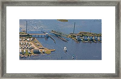Topsail Swing Bridge Framed Print by Betsy C Knapp