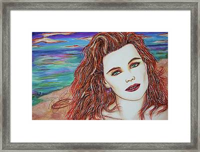 Tori Sees Red Framed Print by Joseph Lawrence Vasile