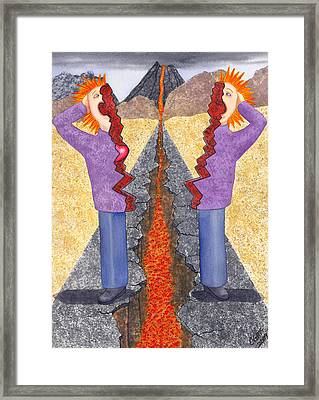 Torn Framed Print by Catherine G McElroy