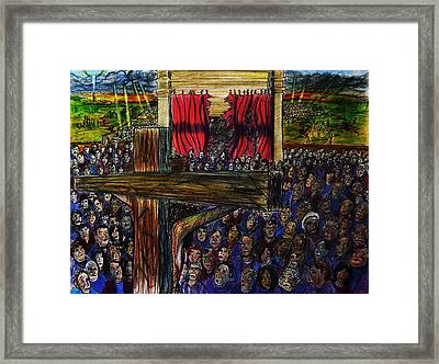 Torn Reaction Number 2 Framed Print by Richard  Hubal