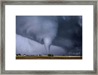 Tornado And House Framed Print by Francis Lavigne-Theriault