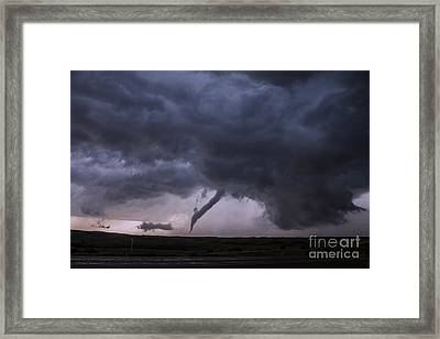 Tornado Roping Out Framed Print by Francis Lavigne-Theriault