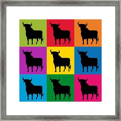 Toro Pop Art Framed Print by Michael Tompsett