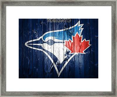 Toronto Blue Jays Barn Door Framed Print by Dan Sproul