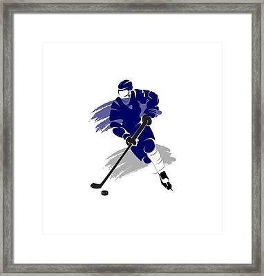 Toronto Maple Leafs Player Shirt Framed Print by Joe Hamilton