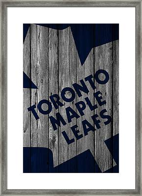 Toronto Maple Leafs Wood Fence Framed Print by Joe Hamilton