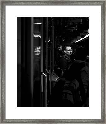 Toronto Subway Reflection Framed Print by Brian Carson