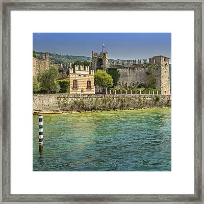 Torri Del Benaco Scaliger Castel Framed Print by Melanie Viola