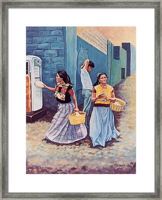 Tortilla Sellers Framed Print by Emiliano Campobello