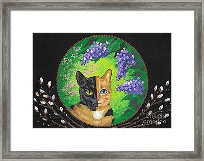 Tortoiseshell Cat Framed Print by Margaryta Yermolayeva