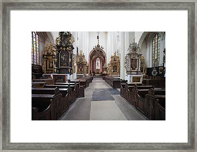 Torun Cathedral Interior In Poland, Framed Print by Artur Bogacki