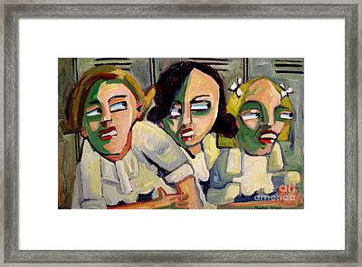 Totally Gross In The Hallway Framed Print by Charlie Spear