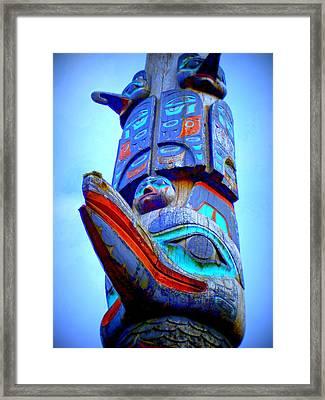 Totem 42 Framed Print by Randall Weidner