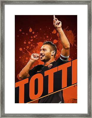 Totti Framed Print by Semih Yurdabak