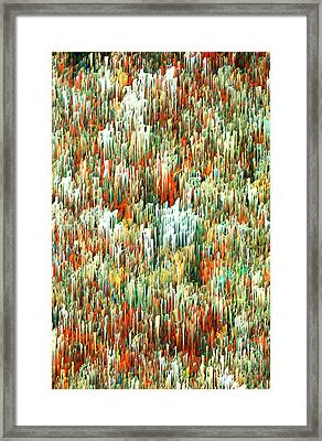 Touch Abstract Waldo Framed Print by Alix Rumble