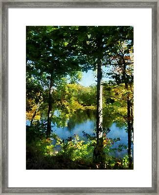 Touch Of Autumn Framed Print by Susan Savad