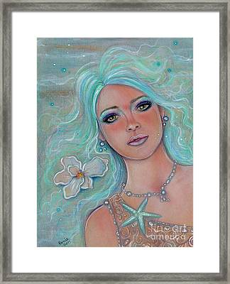 Touch Of Spring Mermaid Framed Print by Renee Lavoie
