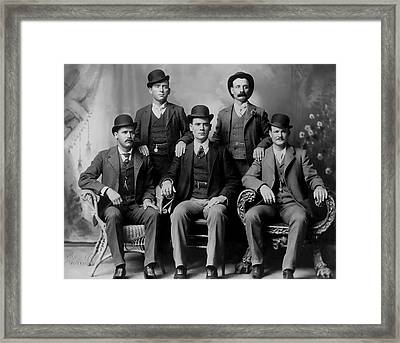 Tough Men Of The Old West 2 Framed Print by Daniel Hagerman