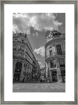 Toulouse Cityscape In Mono Framed Print by Georgia Fowler