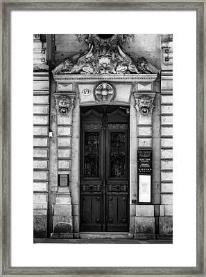 Toulouse Door In Mono Framed Print by Georgia Fowler