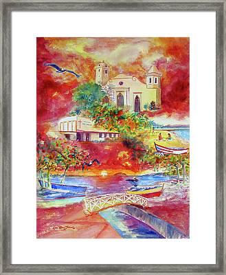 Tour Around Aguadilla Puerto Rico Framed Print by Estela Robles