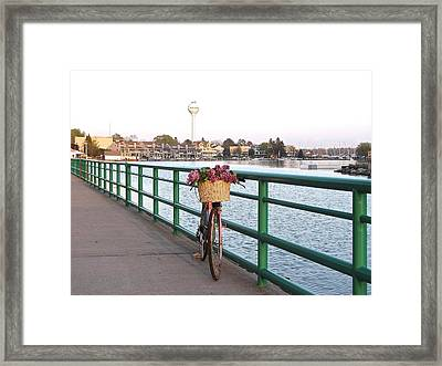 Tour De Lilacs In Pentwater Michigan Framed Print by Jane Greiner