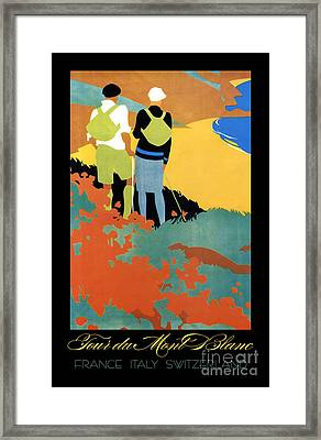 Tour Du Mont Blanc Travel And Sport Framed Print by Tina Lavoie