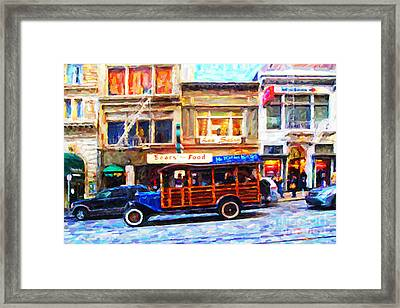 Touring The Streets Of San Francisco . Photo Artwork Framed Print by Wingsdomain Art and Photography