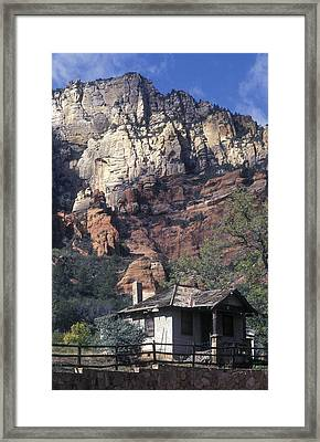 Tourist Cabins Built In 1933 And Red Framed Print by Rich Reid