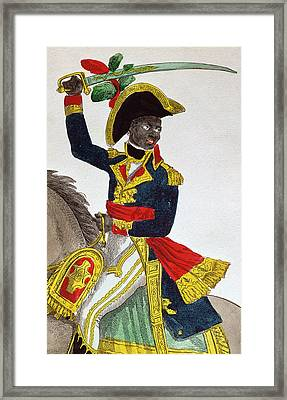 Toussaint Louverture Framed Print by French School