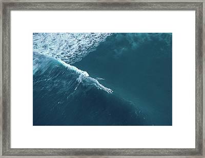 Tow Surf - Sunset Beach Framed Print by Sean Davey