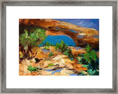 Toward The Arch  Framed Print by Elise Palmigiani