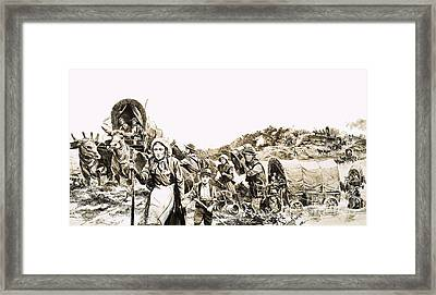 Towards A Promised Land Framed Print by Gerry Wood
