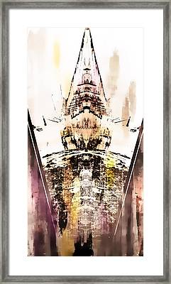 Tower Abstract Framed Print by Tom Gowanlock