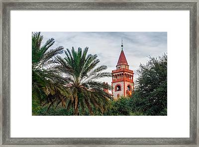 Tower At Flagler College Framed Print by Rob Sellers