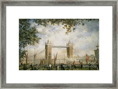 Tower Bridge - From The Tower Of London Framed Print by Richard Willis