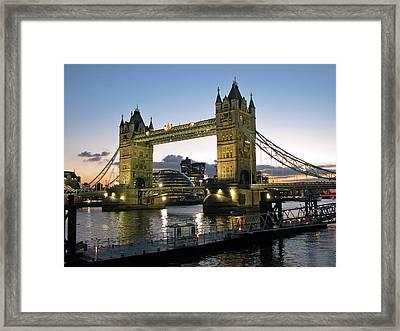 Tower Bridge, London Framed Print by Anik Messier