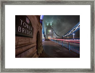 Tower Bridge Framed Print by Thomas Zimmerman