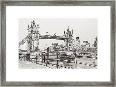 Tower Bridge Framed Print by Vincent Alexander Booth