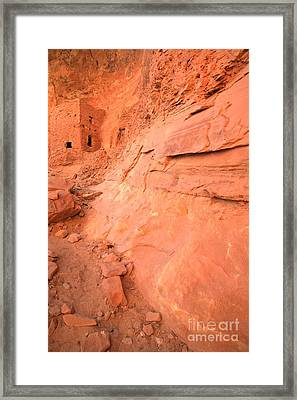 Tower House Ruin Portrait Framed Print by Adam Jewell