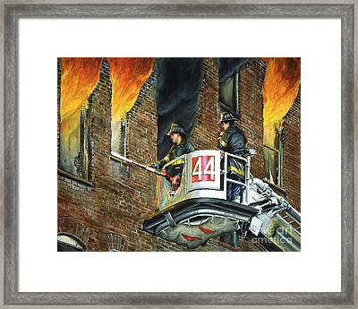 Tower Ladder 44-south Bronx Framed Print by Paul Walsh
