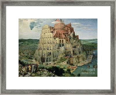 Tower Of Babel Framed Print by Pieter the Elder Bruegel