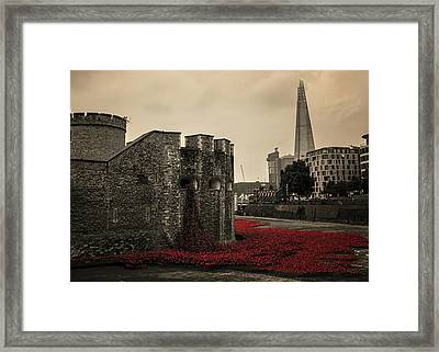 Tower Of London Framed Print by Martin Newman