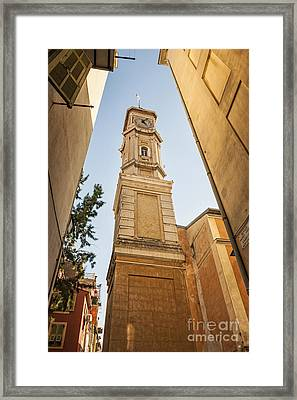 Tower Of Saint Francois In Nice Framed Print by Elena Elisseeva