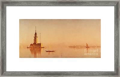 Tower On The Bosporus Framed Print by Sanford Robinson