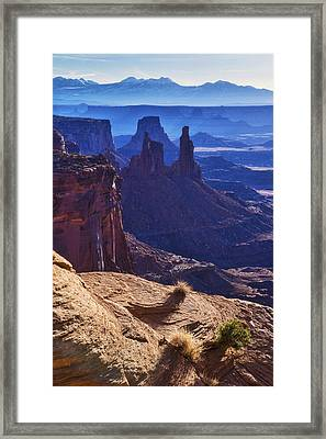 Tower Sunrise Framed Print by Chad Dutson