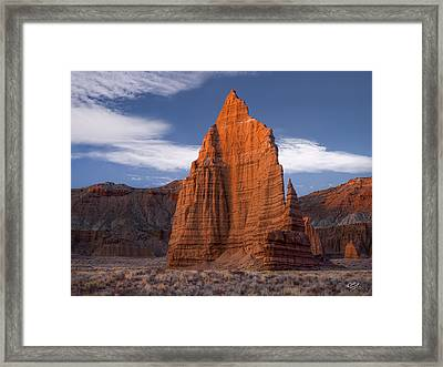 Towering Framed Print by Leland D Howard