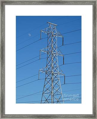 Towering Power  Framed Print by Joseph Baril