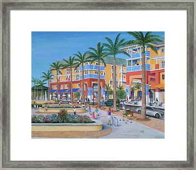 Town Center Abacoa Jupiter Framed Print by Marilyn Dunlap
