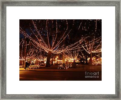 Town Center Night Of Lights Framed Print by D Hackett